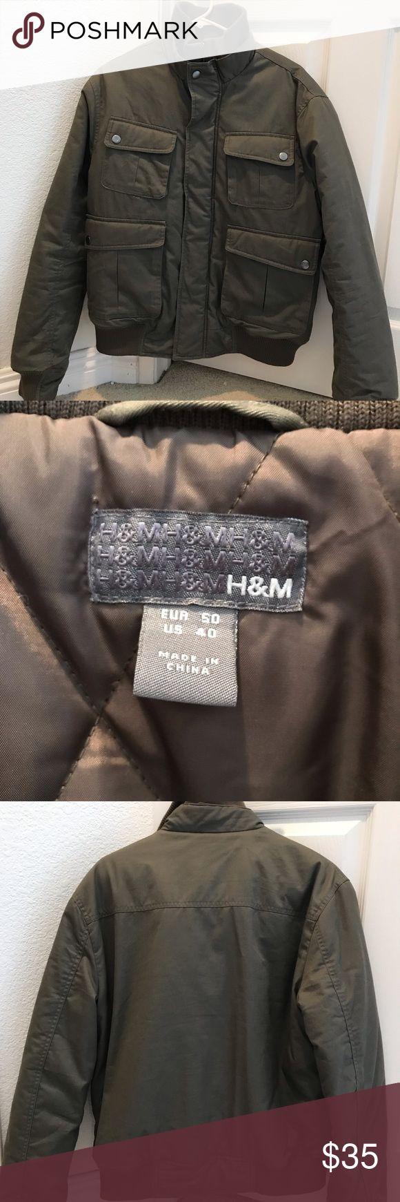 H&M olive green bomber jacket Olive green bomber jacket