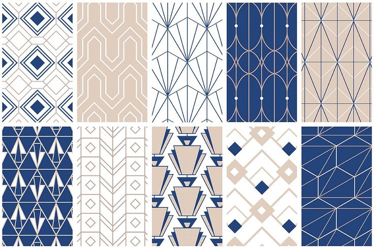 Art Deco Seamless Patterns by Youandigraphics on @creativemarket