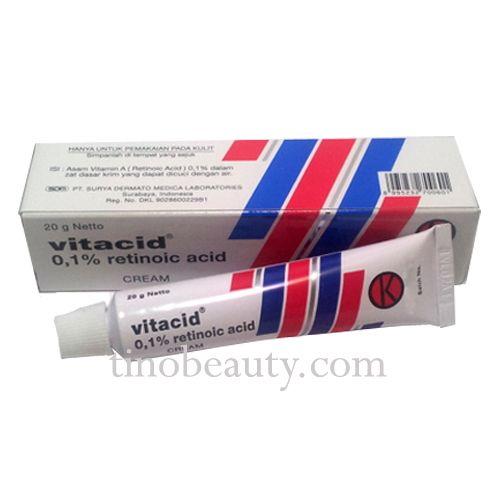 Vitacid 0,1% Cream <b>Anti Ageing</b> Acne, Wrinkles, Papules | Health ...