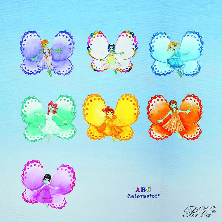 Le sette farfalle fatate dai sette colori dell'arcobaleno. @rosalucebooks