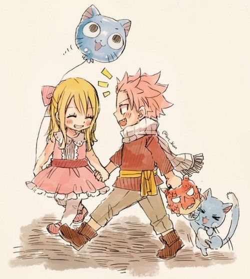 NaLu et Happy, enfant ^^ | Fairy Tail
