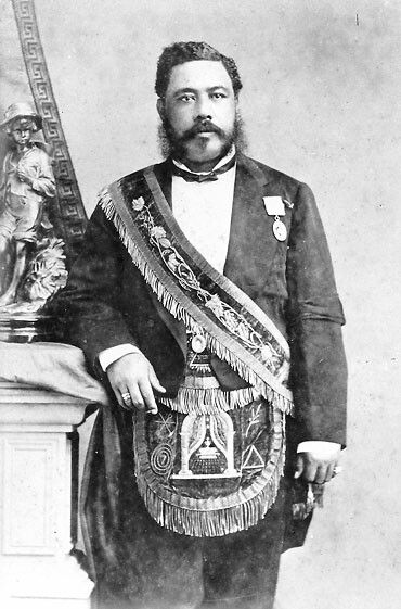 King Kalākaua of Hawai'i, born David La'amea Kamanakapu'u Mahinulani Nalaiaehuokalani Lumialani Kalākaua.