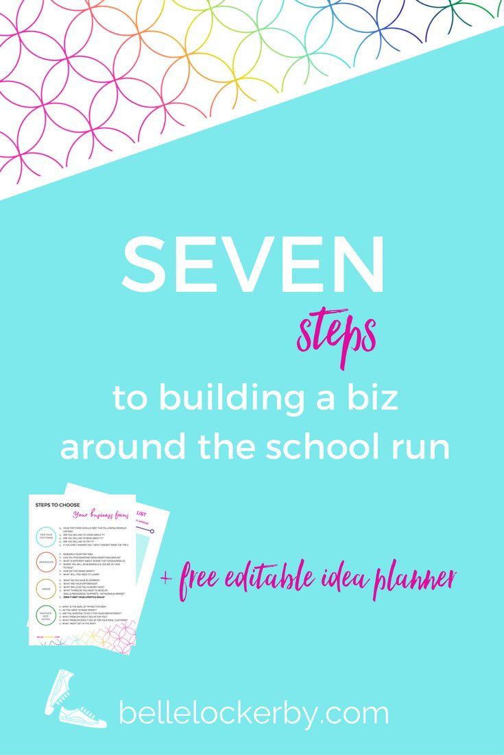 7 steps to building a biz around the school run via @https://au.pinterest.com/bellelockerby/