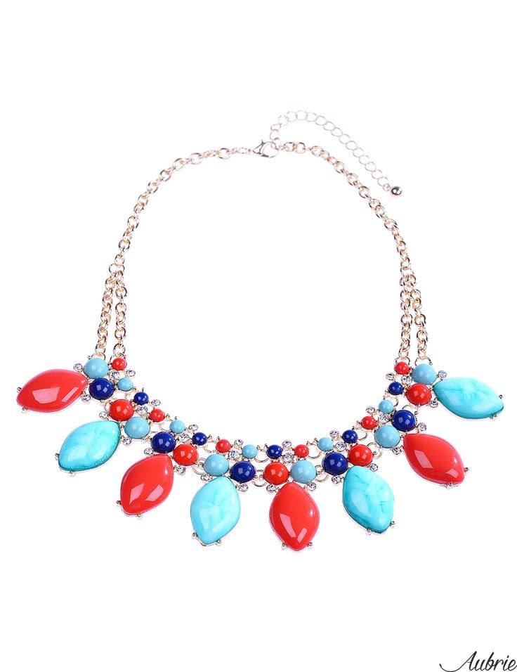 #aubrie #aubriepl #aubrie_necklaces #necklaces #necklace #jewelery #accessories #marci #pastel #colorful #red #blue #mint