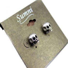 Vintage Punk Style Skull Stud Earrings: Skulls, Vintage Punk, Punk Earrings Studs, Stud Earrings, Styles, Accessories, Punk Style