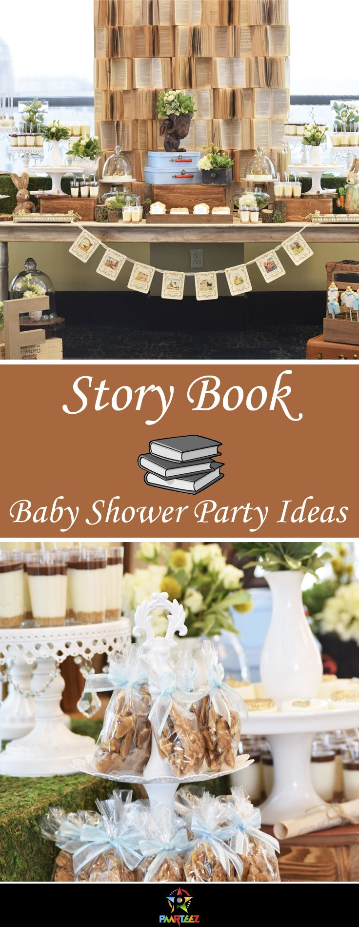 Story book themed Baby Shower party ideas for baby boy. #babyshower #partyideas