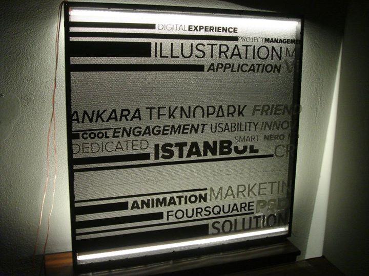 Meydan Architecture Design | We design illuminated board for a media agency.