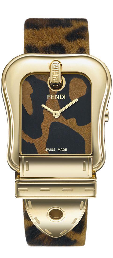 Fendi  -  Large Animal Print Watch
