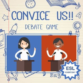 Students will go head-to-head in a fast-paced debate competition. Each Powerpoint slide presents two opposing ideas (all of which are fun- not highly controversial). In the alotted time given, students must convince the class that their side is better.