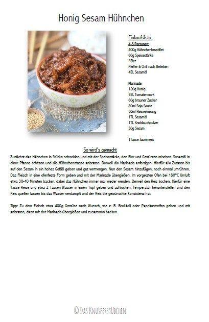 Honig Sesam Hühnchen - Honey Sesame Chicken Recipe #dinner #dinnertime