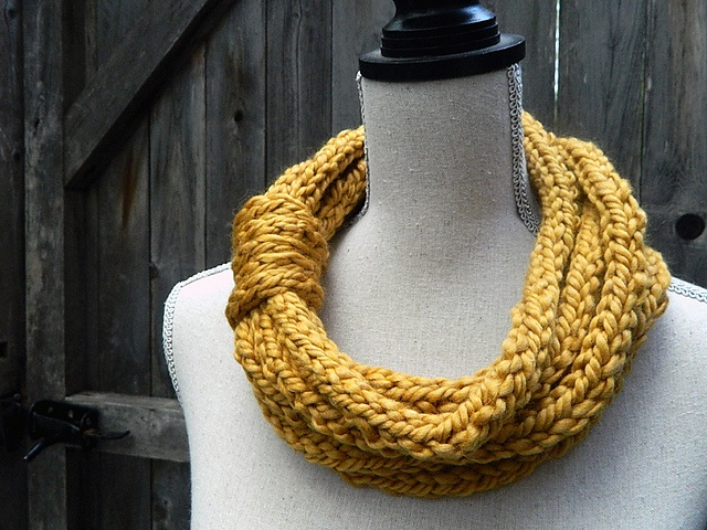 Ravelry: bluedogwoolies' Roped I-Cord Cowl in Golden Rod