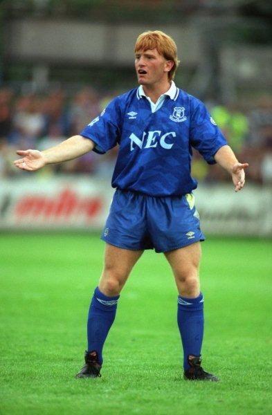 Stuart McCall of Everton in 1990.