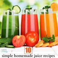 10 simple homemade juice recipes for beginners   Your Modern Family probably should start juicing again