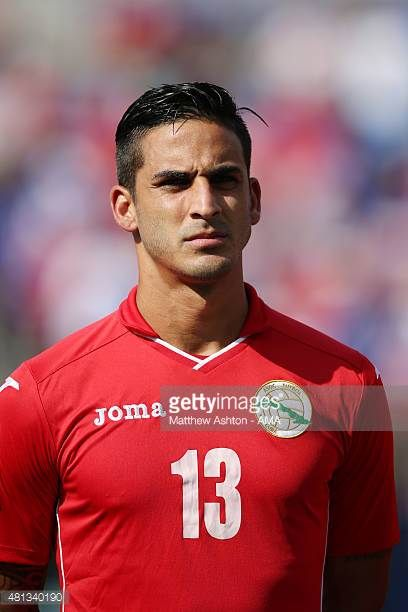 Jorge Luis Corrales of Cuba during the Gold Cup Quarter Final between USA and Cuba at MT Bank Stadium on July 18 2015 in Baltimore Maryland