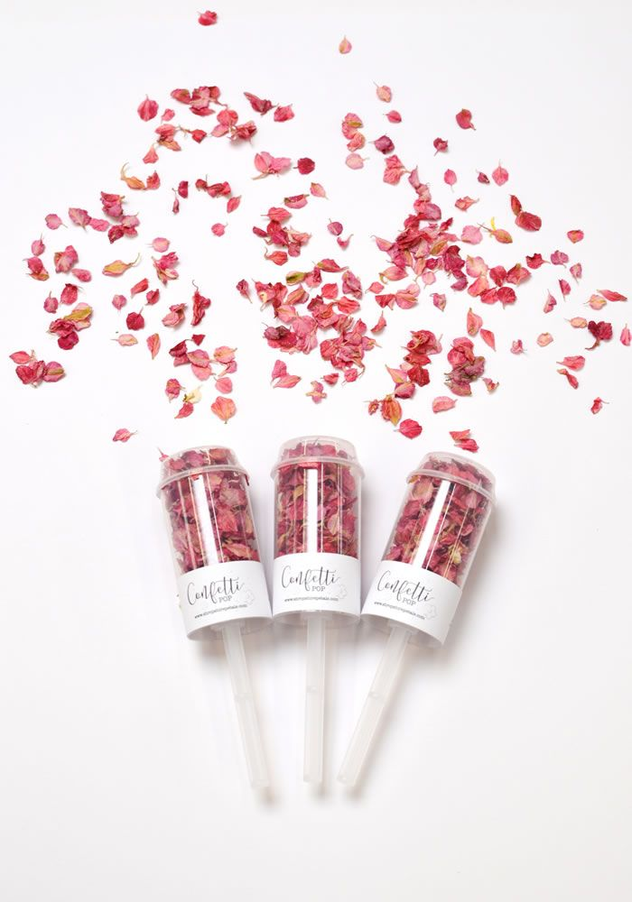 Shropshire Petals launches confetti pops! It's never been easier to shower your loved ones in confetti to celebrate getting married, we love the real flower petals in these! • Find out more on the Wedding Ideas magazine website and where to get them yourself!