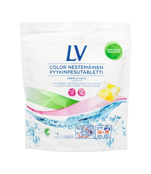 LV Color nestemäinen pyykinpesutabletti   LV
