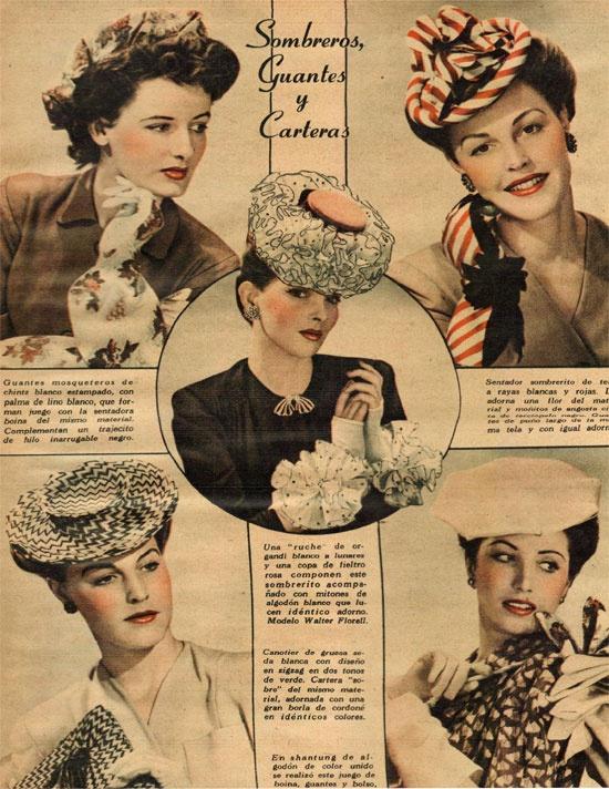Moda en sombreros, revista Para Ti - 1948