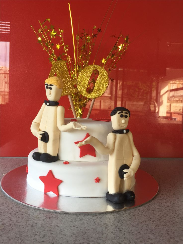 A naughty forty stripper cake