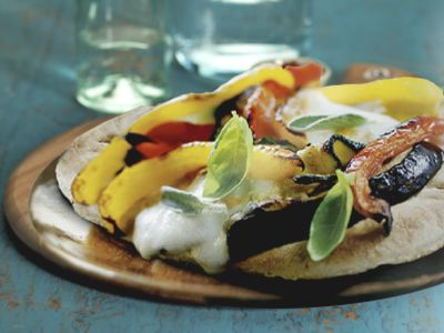 This one goes out to all our vegetarian fans - our Mozzarella and Roasted Vegetable Pita Pizza is definitely one (delicious) mouthful.