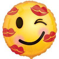 18 Kiss Emoji Foil Balloon   Valentine's Day / by bertiesballoons
