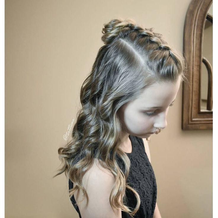 Braids & Hair by @terttiina Instagram: Dutch braid into a messy bun with some curls