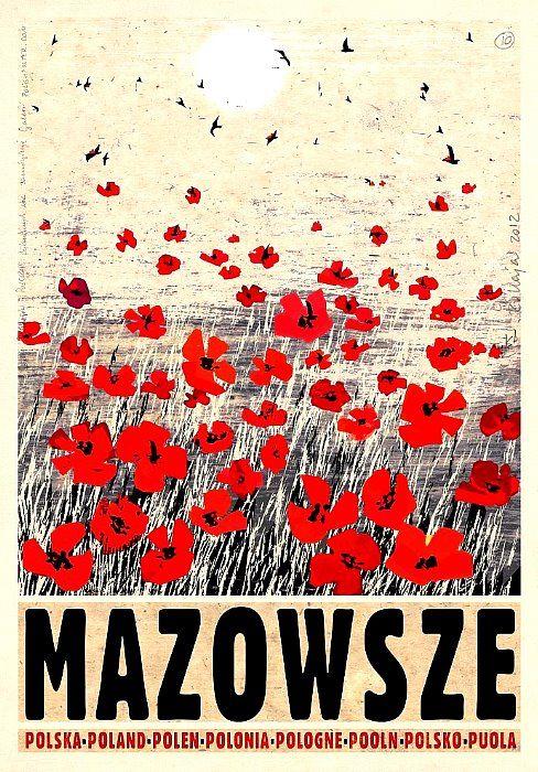 Mazowsze, Mazovia, Polish Poster by Ryszard Kaja
