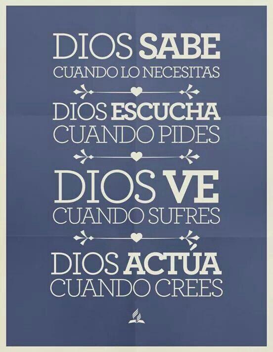 Dios lo hace todo en muestra vida, cuando lo dejamos actuar