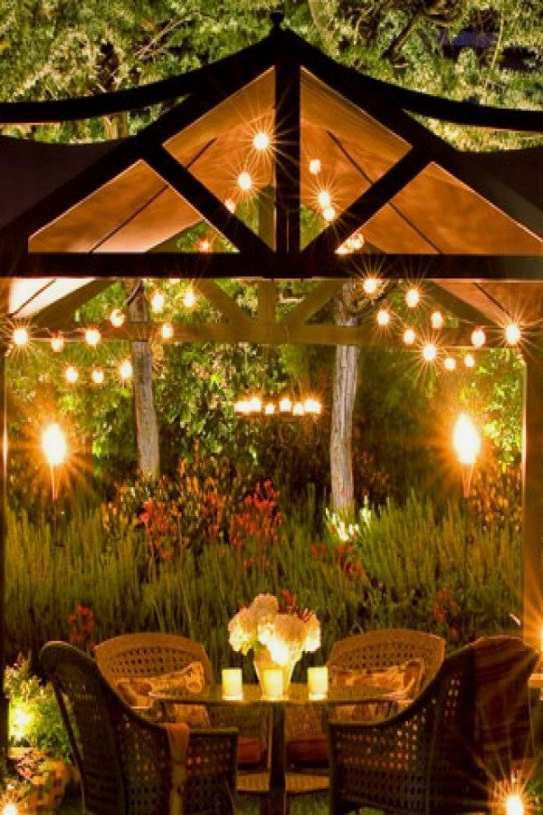 Beautiful Outdoor Light Projects You Can Do For Your Backyard Spaces With Images Backyard Lighting Diy Backyard Lighting Outdoor Living Diy