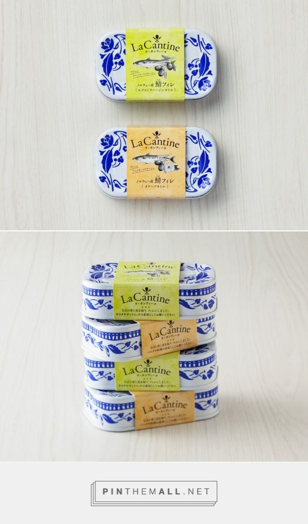 La Cantine canned fish by GK Graphics. Pin curate by SFields99.