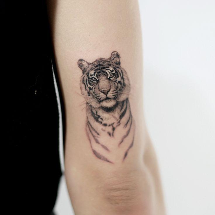 "9,402 likes, 58 comments – Tattooist_Doy (@tattooist_doy) on Instagram: "": Tiger. #tattoo #tattoos #tattooing #art #tattooistdoy"