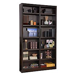 ... Double Wide Bookcase 12 Shelves Espresso, Eco Conscious Polyurethane  Finish Resists Stains For Years Of Use, Simple Assembly Is Required At Office  Depot ...