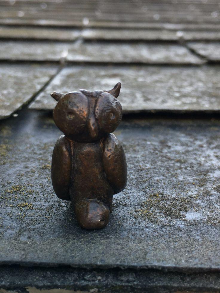 Hibou bronze, sculpture , cire perdue, pièce unique de la boutique AuFilduTechBronze sur Etsy