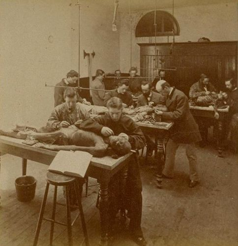State University Medical Department Toland Hall dissecting room 1870's | by gaswizard