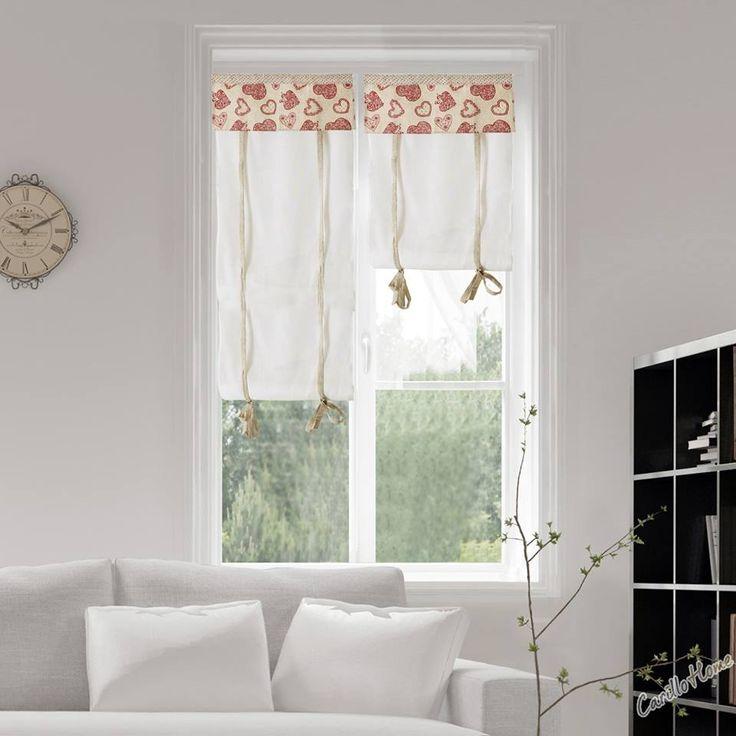 """Voglia di Shabby? Le tendine """"Dolomite"""" sono una perfetta cornice per le vostre finestre e rendono l'ambiente accogliente e delicato."""