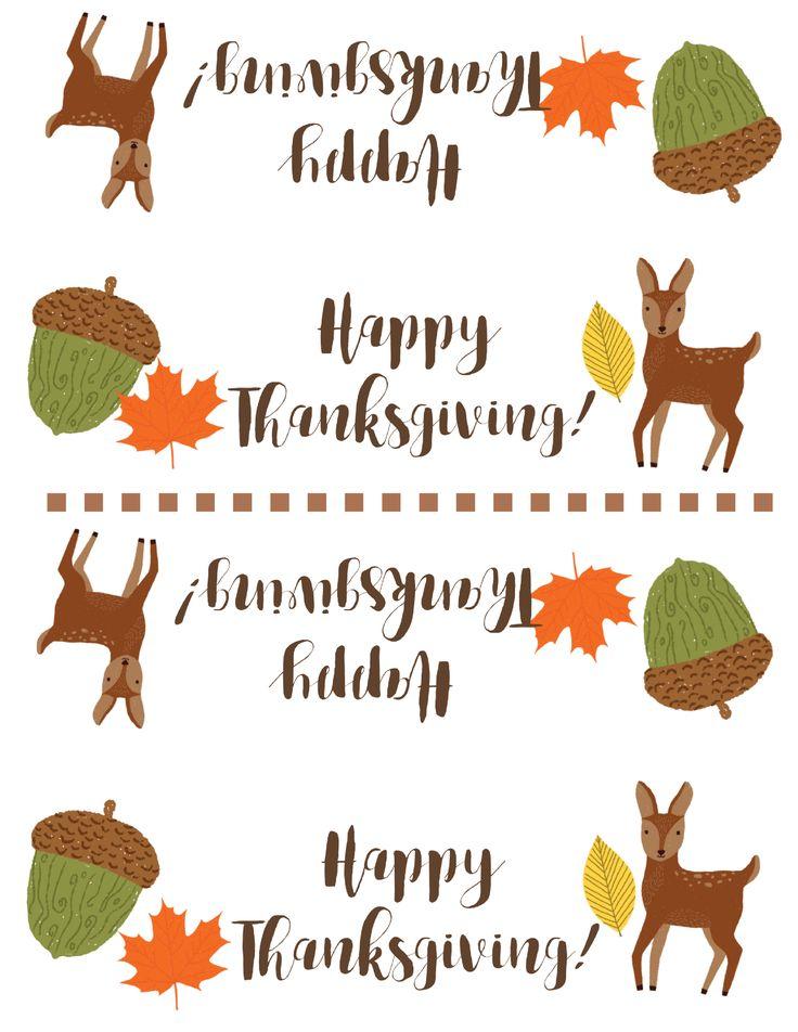 Free Thanksgiving Treat Bag Topper Printable