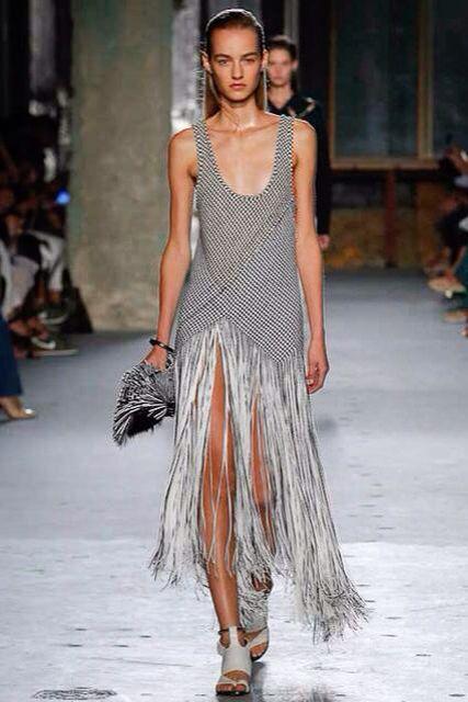 Proenza Schouler woven leather dress SS 15