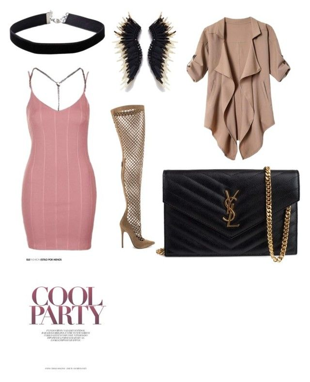 """Girls party"" by elenazaharia on Polyvore featuring Topshop, Miss Selfridge, Privileged and Yves Saint Laurent"