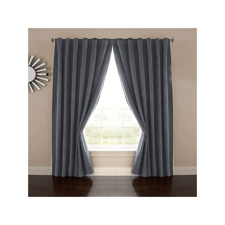 eclipse Absolute Zero Velvet Thermaback Blackout Home Theater Curtain, Blue, Durable