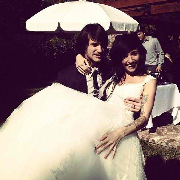 LIGHTS And Beau Bokan wedding photo!