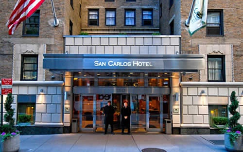 Service of San Carlos Hotel in New York City