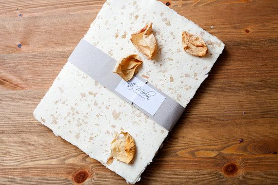 Handmade paper with rose petals by KatiMolin on Etsy
