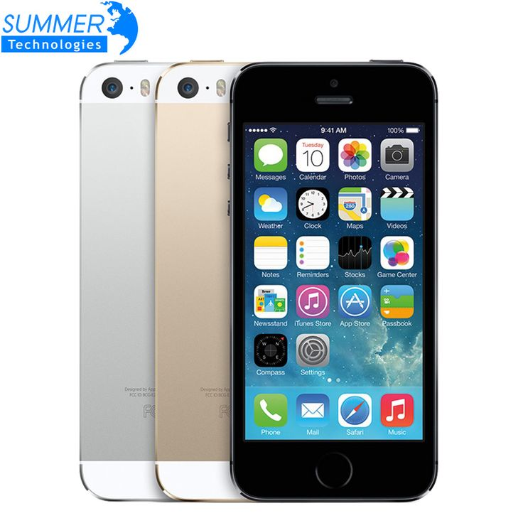 "Original Unlocked iPhone 5S Cell Phones iOS 4.0"" IPS HD Dual Core A7 GPS Fingerprint 8MP 16GB 32GB 64GB Used Mobile Phone"