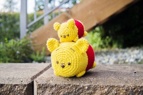 Tsum Tsum Winnie the Pooh (crochet patterns) - I am so happy to have found this one! I love Winnie and this one is incredibly cute!