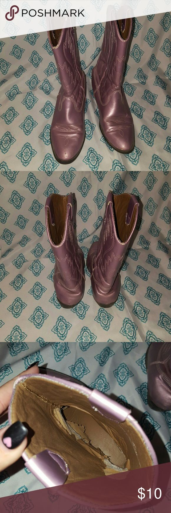 Nordstrom boots Cute metallic lavender color boots Some scuffs. Peeling on insides. Creasing See photos Nordstrom Shoes Boots