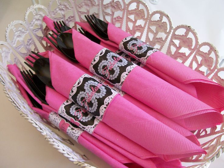 Napkin rings 80th birthday party theme mom 39 s 80th for 80th birthday decoration