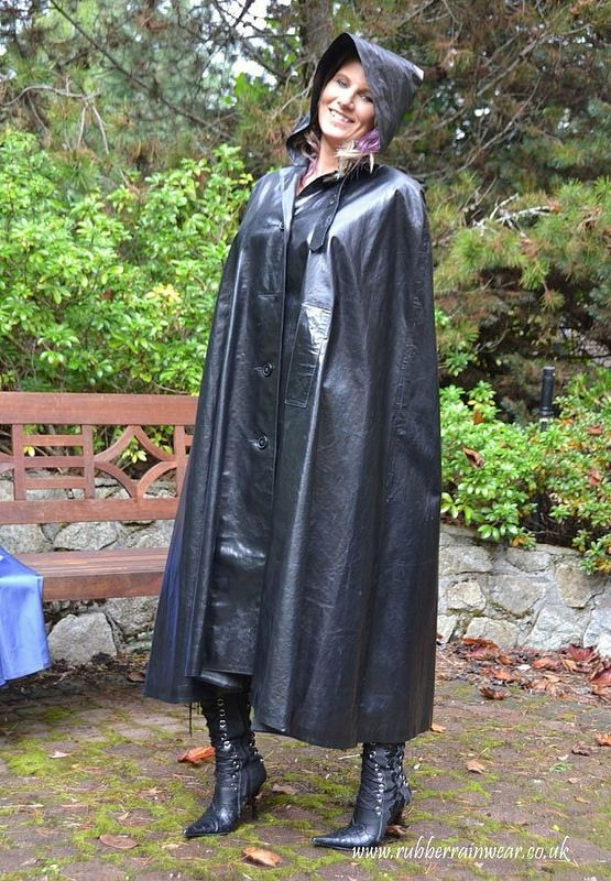 Love it in 2019 | Satin cape | Rain wear, Pvc raincoat, Rubber raincoats