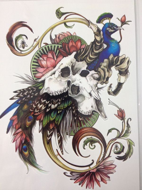 $0.87 - 2016 21 X 15 CM Peacock and flower  Sexy Cool Beauty Tattoo Waterproof Hot Temporary Tattoo Stickers#164-in Temporary Tattoos from Health & Beauty on Aliexpress.com | Alibaba Group