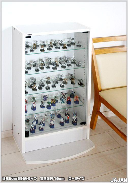 【楽天市場】趣味的家具コレクションディスプレイシリーズ> ロック機構標準装備!新サイズで登場 コレクションラック改> コレクションラック改 薄型19cm奥行タイプ:JAJAN-R