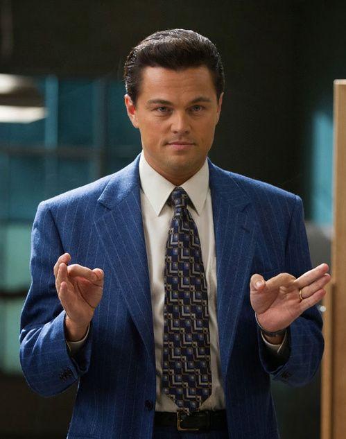 Le Loup de Wall Street de Martin Scorsese, costume bleu Armani