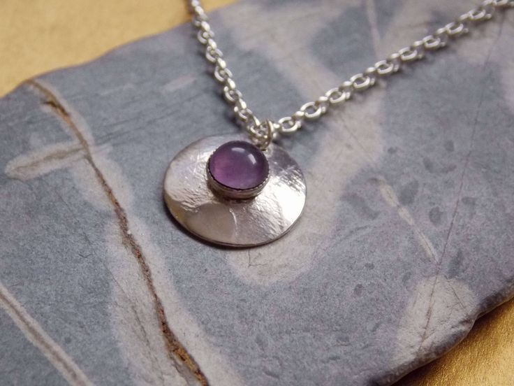Sterling Silver Pendant with  Lavender Amethyst Cabochon by NewGrowthDesign on Etsy